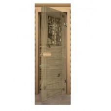 Дверь Aкма Оконце стеклянная с фьюзингом