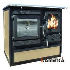 Отопительно варочная печь-плита Guca Guliver termo cream (левая)