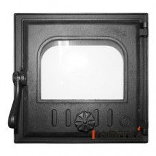 К401 Дверца топочная стекло 250х240мм
