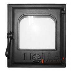 К402 Дверца топочная стекло 250х280мм