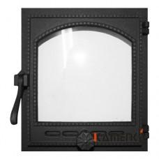 К404 Дверца топочная стекло 290х325мм